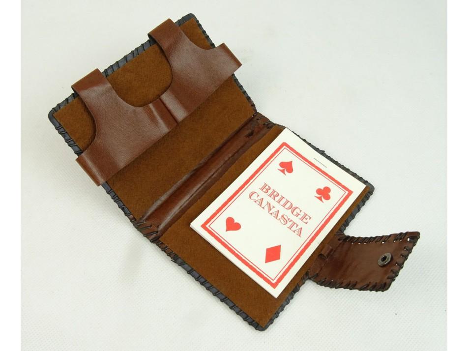 9570bd58161e béri bőrdíszmű spanyol kártya tartó | regitargyak.hu
